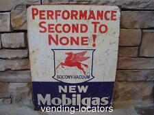 "NEW Mobil Gas Mobiloil Motor Oil Pegasus Gas Station 12"" x 16"" Socony Metal Sign"