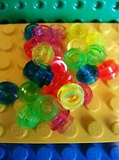 LEGO Plate Round Mixed 1x1 x25 Trans Neon Green Yellow Orange Pink Orange Stud
