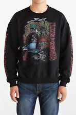 NEW URBAN OUTFITTERS BLACK GUNS N ROSES CREW NECK SWEATSHIRT MEN'S SIZE MEDIUM