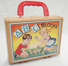 Vintage Eichhorn ABC Puzzle Blocks in Case Letters Numbers Fairy Tales