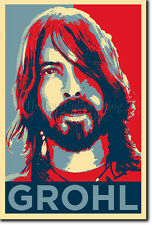 DAVE GROHL PHOTO PRINT 2 POSTER GIFT (OBAMA HOPE INSPIRED)