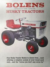 Bolens 750 850 1050 1250 Lawn Garden Tractor Full Color Sales Manual 12pg 1966
