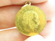 18k Yellow Gold Franc.IOS.I.D.G. Avstriae Imperator Austria Gold Coin Necklace