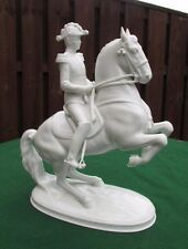 VIENNA RIDING SCHOOL WIEN AUGARTEN PORCELAIN HORSE LEVADE WITH RIDER - BOXED