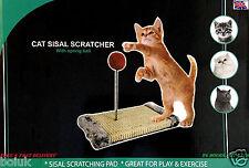 Cat Scratch Play Post Activity Pole Centre Climbing Sisal Scratcher Toy Ball New