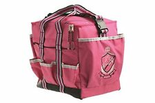 HYSHINE DELUXE GROOMING BAG KIT TIDY FOR HORSES PINK WITH SIDE POCKETS PORTABLE