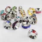 Wholesale 10mm Crystal Big Hole Spacer Loose Beads Fit European Charms Bracelets