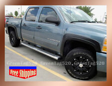 CHEVY SILVERADO 1500 CREW CAB FENDER FLARES FACTORY STYLE MATTE BLACK PAINTABLE