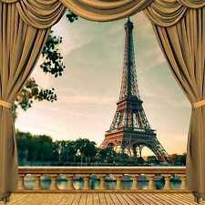 Eiffel Tower 10'x10' CP Backdrop Computer-painted Scenic Background ZJZ-037