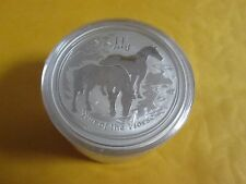 5 x  2 oz .999 fine  Silver  Perth  Mint Lunar Year of Horse 2014  Coin