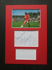 LIVERPOOL LEGEND KENNY DALGLISH HAND SIGNED A4 MOUNTED PAGE & PHOTO DISPLAY- COA