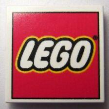 LEGO - Tile 2 x 2 with LEGO Logo Pattern - White - RARE