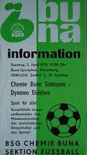 Programma 1977/78 BSG Chemie Buna Schkopau-DINAMO Eisleben