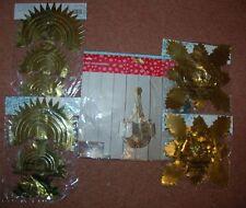 New 7 Decs - 4 3.3M Gold Ceiling Chains 1 Chandelier 2 3D Hanging Decorations