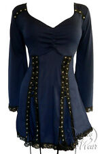 NWT WOMENS PLUS SIZE CLOTHING ELECTRA CORSET TOP IN MIDNIGHT  2X