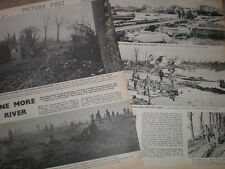Photo article world war II allies cross the Roer Rur River Germany 1945