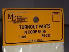 Micro- Engineering #80-332 N SCALE TURNOUT PARTS 1 SET CODE 55 BIGDISCOUNTTRAINS