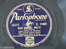 "78rpm 12"" LUTON GIRLS CHOIR - MELACHRINO blue danube waltz / easter hymn E 11464"