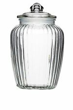 Kitchen Craft Home Made Large Glass Storage Jar 2.2 Litres - Clear NEW