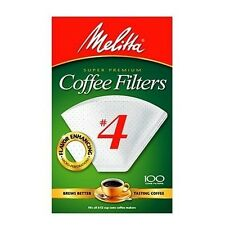 Melitta 624102 White #4 Cone Coffee Filters (100 count) Pack of 10