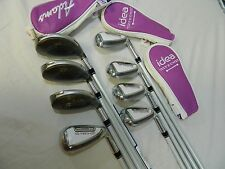 New 2015 Adams IDEA Tech Combo 8pc Iron set 4h-GW Graphite LADIES Fubuki Irons