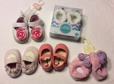 NEW LOT OF 5 Baby Girl Crib Shoes Soft Sole Size 0 1 0-3 3-6 Months
