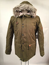Globe Men's Puffy Parka Hooded Jacket Hobson Olive Size XL NWT Faux Fur Sherpa