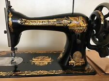 Antique Singer Sewing Machine Model 15 hand crank - Manufactured 1902