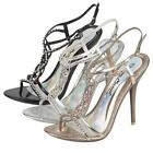 LADIES HIGH HEELS WEDDING PARTY SANDALS WOMENS PROM EVENING DRESS SHOES SIZE
