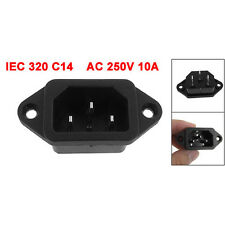 2x(IEC 320 C14 Male Plug 3 Pins PCB Panel Power Inlet Socket Connector SY