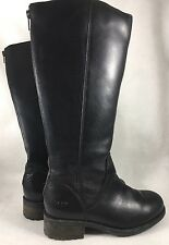 Ugg Australia Seldon Black 1006038 Leather Knee High Water Resistant size 6