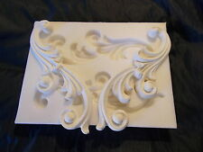 FRENCH ORNATE SCROLLS SILICONE RUBBER MOULD FIRE PLACE FURNITURE CUPBOARDS