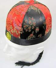 Cinese commerciante ROUND HAT DECORATA 61 Oriental Asiatico Costume Accessorio