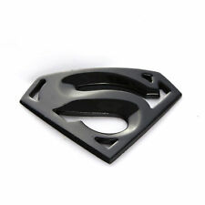 Black Metal 3D Superman Emblem Sticker Car SUV Fenders Tailgate Tank Cover Badge
