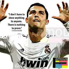 Ronaldo CR7 canvas quotes wall decals photo painting framed pop art poster #3