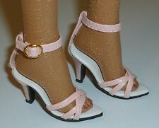 """PINK HIGH HEEL ANKLE STRAP SHOES FOR DOLLS 72mm Fits 22"""" American Model Tonner"""