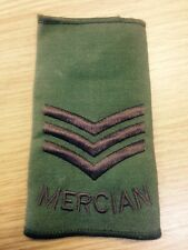 BRITISH ARMY MERCIAN SLIDE RANK SERGEANT EPPAULETTE TRF BADGE PATCH STAFFS RGT