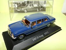 MERCEDES 240 D Long 1973 Bleu ALTAYA 1:43 défaut socle