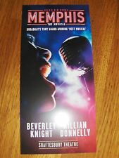 MEMPHIS THE MUSICAL LEAFLET FLYER , PUT WITH TICKETS MAKES A GREAT GIFT