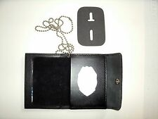 Fla Dept.OF Corrections Snap Wallet Recessed Badge Cut Out & ID Window CT-03LGR