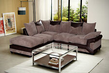 Dino Left Hand Corner Sofa Brown & Mocha