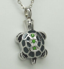 TURTLE CREMATION JEWELRY TURTLE URN NECKLACE MEMORIAL PENDANT ASH HOLDER URNS