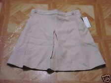 Girls George School Uniform Beige Pleated Scooter Skirt Size 16