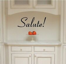Salute! (Health, Well-Being) Italian Phrase wall saying vinyl lettering art deca