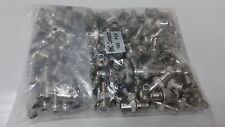 Lot of (100) 2-piece Male BNC Crimp-On Connector RG59, DSCW