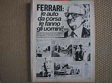 ENZO FERRARI FUMETTO INEDITO 1972 BD COMICS CORRIERE RAGAZZI TACCONI