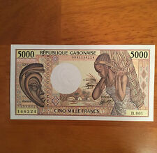 Gabon 5000 Francs ND 1984 P-6a  UNC