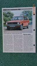 VW Polo Volkswagen 75 - 85 car data info sheet spec history pic car fix it ohc