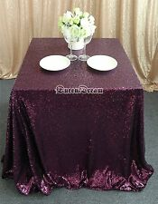 "50""x50"" Colorful Wedding Beautiful Sequin Table Cloth / Overlay /Cover Runners"
