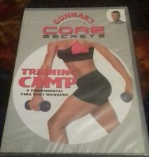 dvd gunnars core secrets training camp  full body workout fitness new sealed